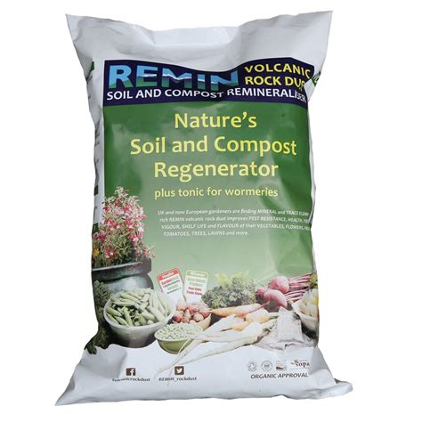 rock dust for garden remin rock dust garden minerals 20 kg bag rockdust