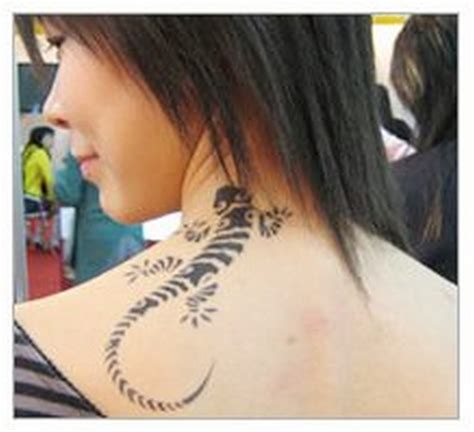 tattoo designs for women on back of neck are neck designs dangerous pictures
