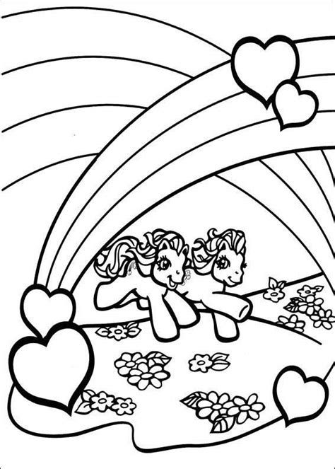 small rainbow coloring page my little pony under the rainbow coloring page ella