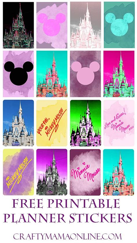 free printable disney planner stickers 25 best castle crafts ideas on pinterest castle