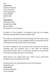 Business Conference Invitation Letter 8 Conference Invitation Templates Free Word Documents