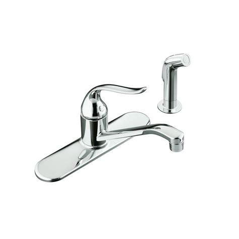 Kohler Single Handle Kitchen Faucet by Kohler Coralais Single Handle Standard Kitchen Faucet With