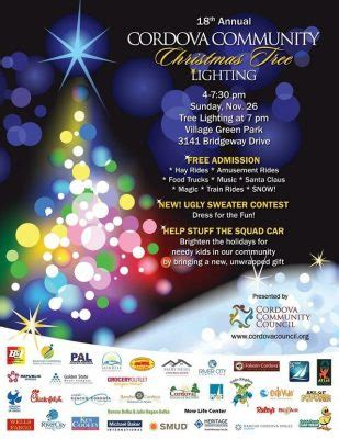 cordova community christmas tree lighting presented by
