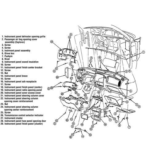 service manuals schematics 1991 mazda navajo instrument cluster interior