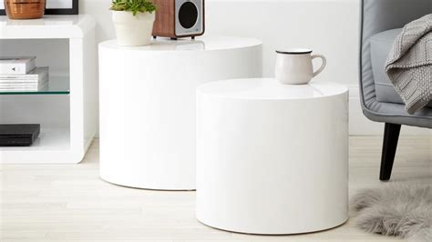 white side table pebble high gloss side tables grey high gloss side table