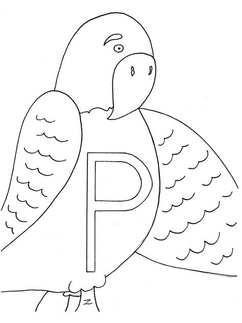 coloring page of letter p letter p coloring pages az coloring pages