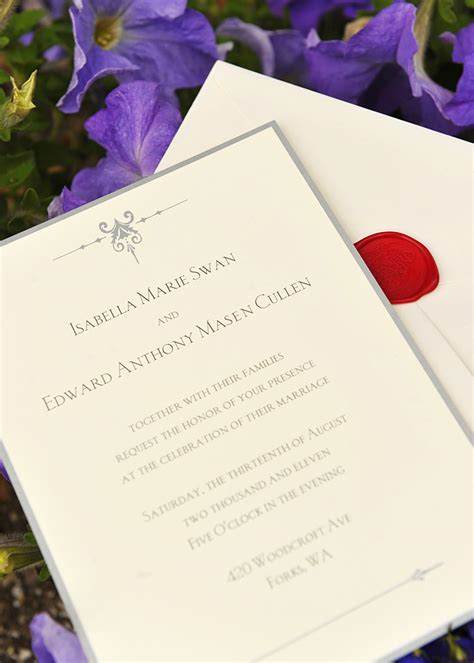 twilight saga wedding invitation kristen rob