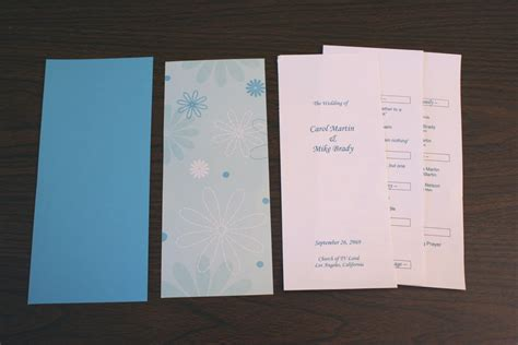 wedding program template chica and jo
