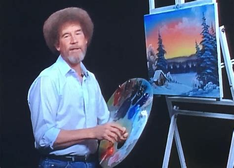 bob ross painting intro this dude had a bob ross painting thrown for him and