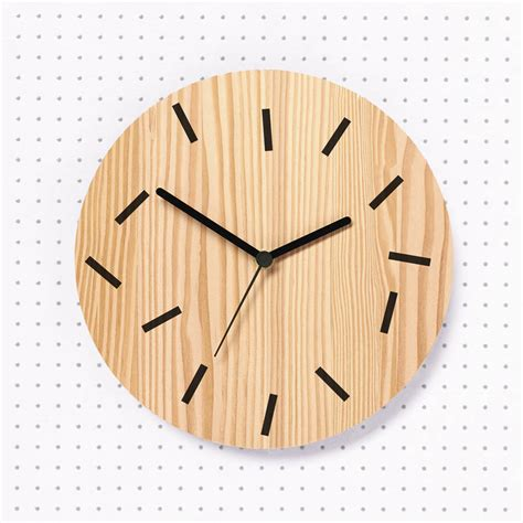 fallen wooden wall clock by byshop notonthehighstreet