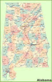 usa map alabama large detailed map of alabama