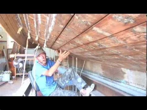 wooden boat repair videos wooden boat repair dry hull caulking 5 youtube