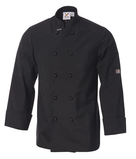 traditional chef traditional chef jacket in black sleeves by club