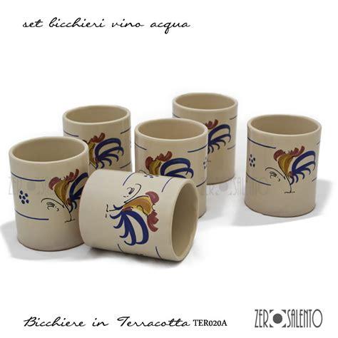 Bicchieri In Terracotta Bicchieri In Terracotta Con Tipico Galletto Senza Manico