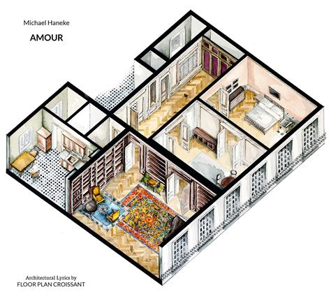 movie floor plans watercolor floorplans from recent television shows and films