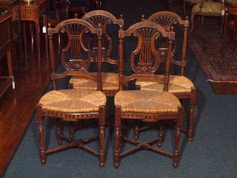 Vintage Dining Room Furniture Set Of 8 Antique Country Dining Room Chairs At 1stdibs