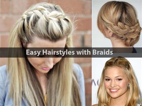 Braid Hairstyles For Easy by Grey Hairstyles For 50 Hairstyle For