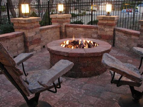 Fire Pit Furniture Stonefurniture Outdoor Pool With Chairs Firepit Furniture