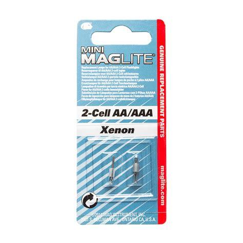 Mini 2 Cell Mini Maglite Xenon Bulb 2 Pack