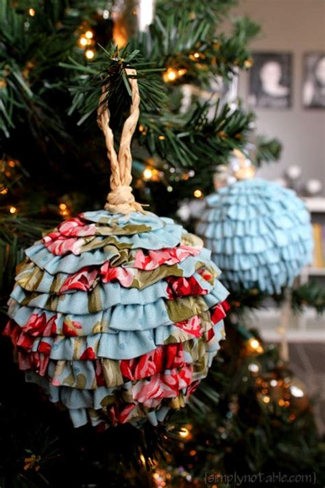 ruffled balls tutorial christmas tree ornaments next