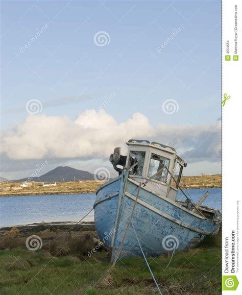 fishing boat seats ireland old fishing boat in ireland stock photo image 4554554