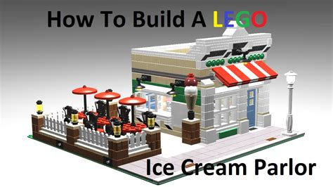 how to build a shop how to build a lego ice cream parlor custom moc youtube