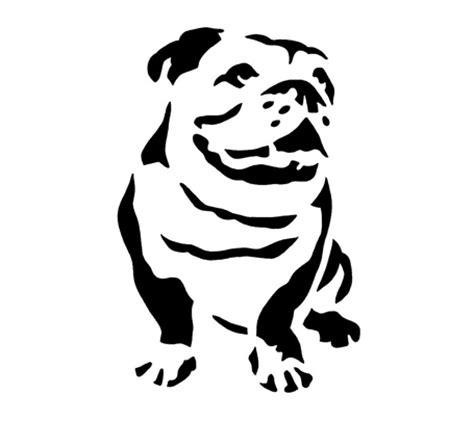 bulldog stencil from stencil me brightly blogged today