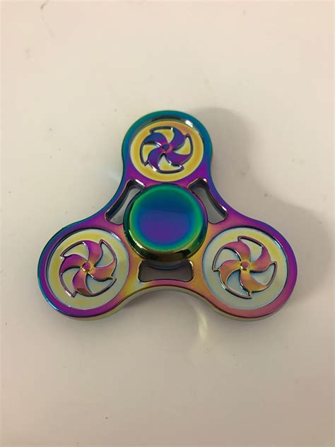 Neo Chrome Rainbow Speedy Metal Aluminium Fidget neo chrome tri fan pattern fidget spinner fidget spinner uk