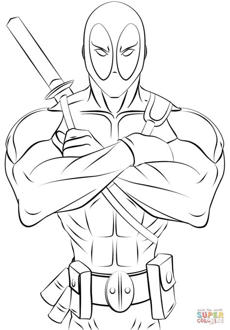 deadpool coloring pages pdf deadpool coloring pages coloring page pictures