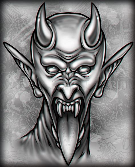 satan tattoo how to draw a satan step by step tattoos pop
