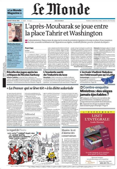 Paper From Newspaper - newspaper le monde front pages from newspapers