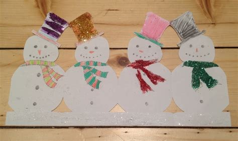 How To Make Paper Snowman Chain - snowman paper chain my kid craft