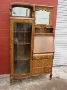 american antique victorian break front secretary bookcase desk