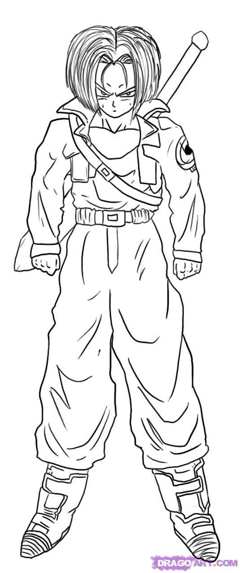 dragon ball z coloring pages of trunks free coloring pages of trunk super saiyan