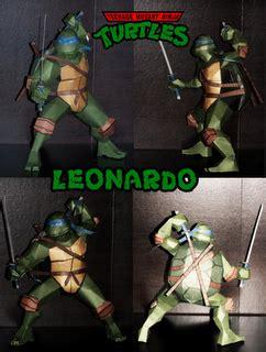 Mutant Turtles Papercraft - mutant turtles papercraft leonardo