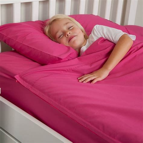zipper bed zipper sheets for kids fuchsia cotton kids zip sheets