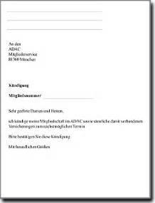 Einschreiben Briefvorlage Adac K 252 Ndigen