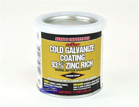 Painting Zinc by 1 2 Pint Zinc Rich Cold Galvanized Trailer Paint
