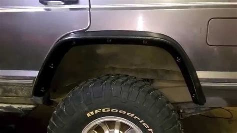 Jeep Xj Flat Fender Flares 89 Flat Fender Flare Install
