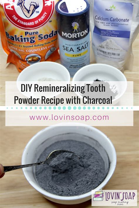 diy remineralizing tooth powder recipe  charcoal