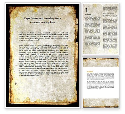 Rusty Background Word Template 06808 Poweredtemplate Com Microsoft Word Background Templates