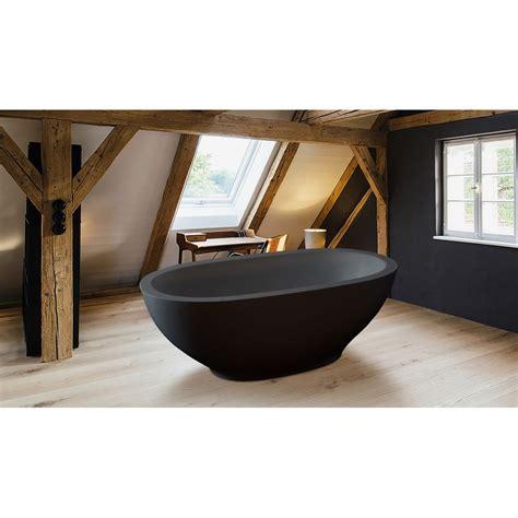 Fairmont Designs Bathroom Vanities by Aquatica Karolina Graphite Black Solid Surface Bathtub
