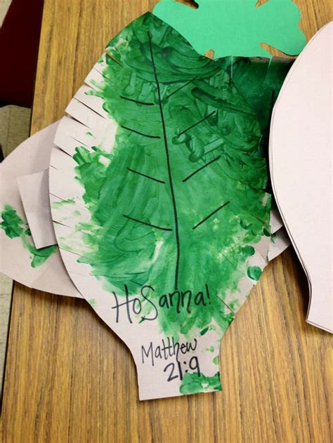 palm sunday craft for palm leaves for easter craft crafts at