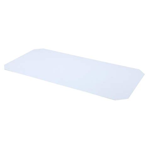 liners for wire shelving sandusky 0 25 in h x 72 in w x 18 in d frosted clear