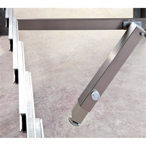 telescoping table surprise table extension mechanism with central