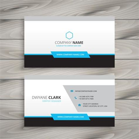 business card clean template design illustrator clean business card for company vector design illustration