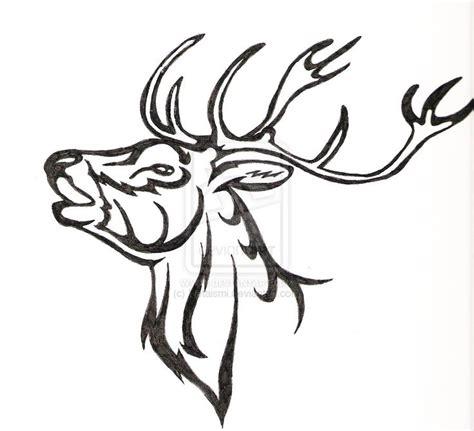 buck tribal tattoos www pixshark tribal deer painting by crochetamommy on deviantart