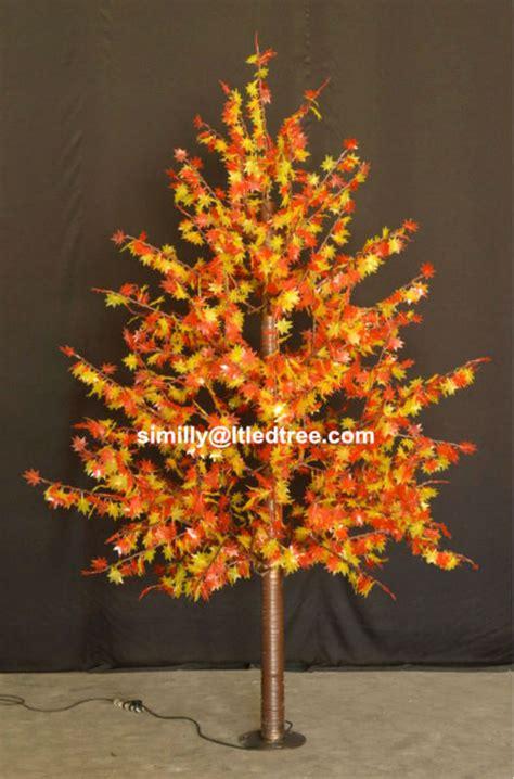 led maple tree yellow leaf outdoor led christmas tree