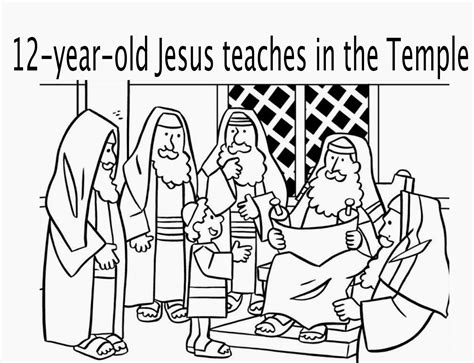 young jesus in the temple coloring page coloring sheet