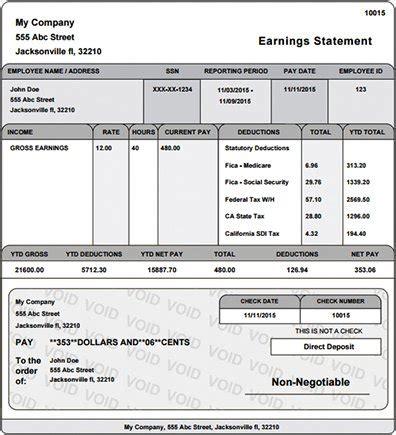 free pay stub templates excel word social funda
